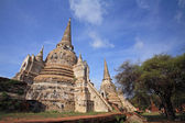 Ancient pagodas in Ayutthaya — Stock Photo