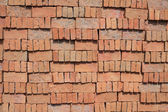 Stack of red brick — Stock Photo