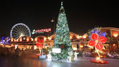 Asiatique The Riverfront with Chrismas tree at night — Stock Photo