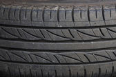 Used car tire texture — Stock Photo