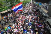 Thai PDRC  protestors rally in Bangkok — Stock Photo