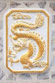 Gold chinese dragon decoration — Zdjęcie stockowe