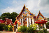 Thai temple architecture in Pathum Thani, Thailand — Stock Photo