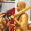 Pilgrim Golden Buddha statues — Stock Photo #50158381