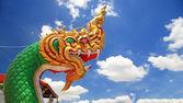 Dragon head sculpture in Thai temple — Stock Photo