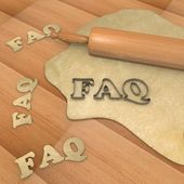 Faq baking cookie — Stock Photo