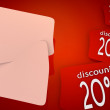 -20 percent discount nifty background in red — Stock Photo