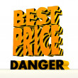 3d best price symbol with warning pattern — Stock Photo #20941025