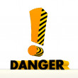 Stock Photo: Risky attention symbol with warning pattern