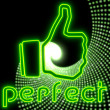 Stock Photo: Beautiful neon glaring neon green perfect symbol