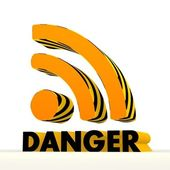 Sign wifi icon with warning pattern — Stock Photo