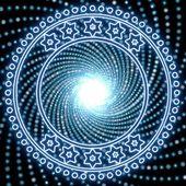 Vackra lable effekt med disco ljus — Stockfoto