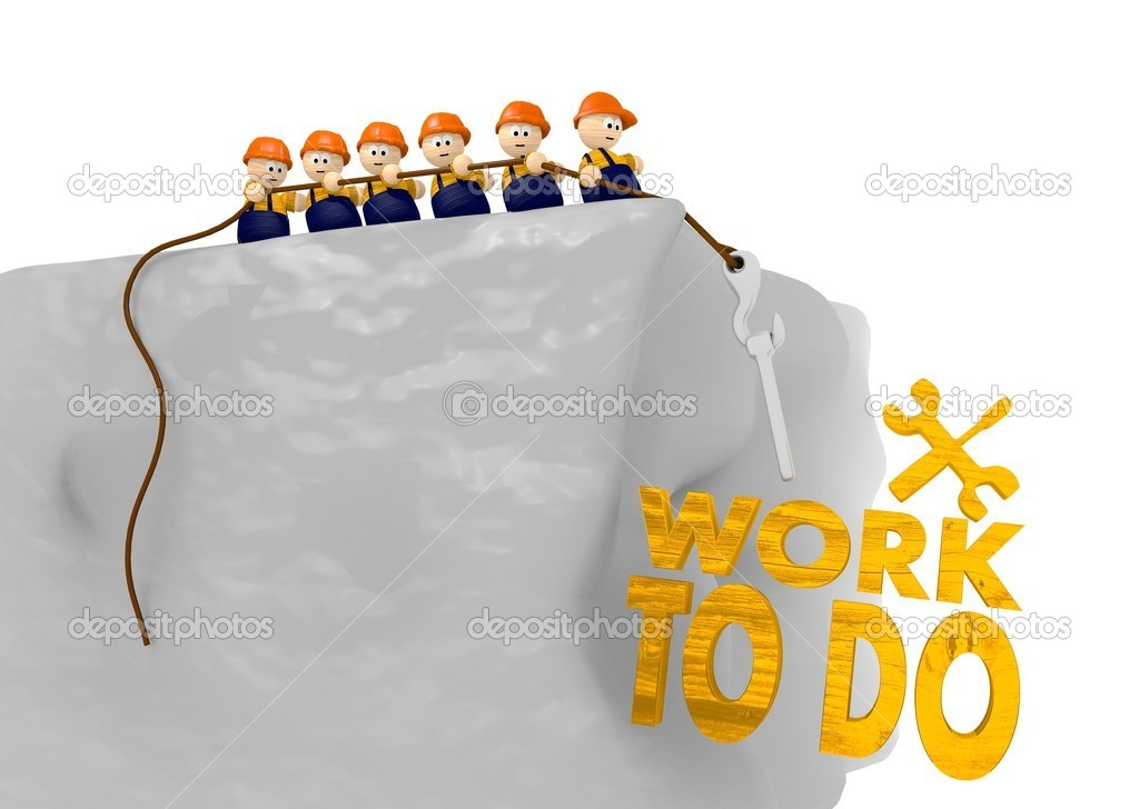 Work to do icon in comic construction 3d illustration — Stock Photo #20941241