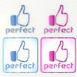 Fresh perfect friendly  like  icon for social networks - Stock Photo