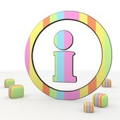 Colorful childish information icon inside the circle — Stock Photo