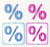 New cute maths percentage for sale discount symbol — Stock Photo