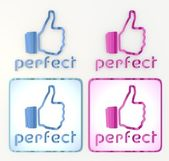 świeży doskonały przyjazny jak ikona sieci społecznych — Zdjęcie stockowe