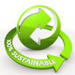 100 percentage sustainable  recycling Illustration in a white ba — Stock Photo