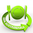 Stock Photo: 100 percentage sustainable ecological restaurant Illustration in