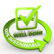100 percentage sustainable ecological well done Illustration — Stock Photo #22230883