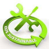 100 percentage sustainable job mechanic Illustration — Stock Photo
