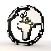 Simbolo del mondo elegante in un elegante sfondo bianco — Foto Stock