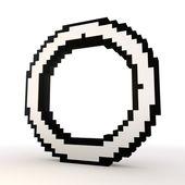 Round circle symbol in a stylish white background — Stock Photo