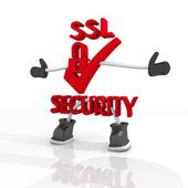 Candy red SSL security character Symbol — Stock Photo