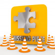 Stock Photo: Illustration of creative missing piece icon