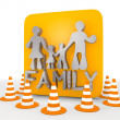 Stock Photo: Illustration of decorative family icon