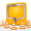 Illustration of a isolated speech balloon icon — Stock Photo