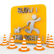 Stock Photo: 3d graphic of isolated slow children icon