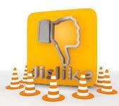 3d render of a metallic dislike icon — Stock Photo