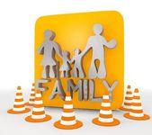 Illustration of a decorative family icon — Stock Photo