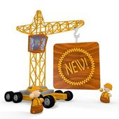 3d render of a cute new icon with a crane — Stock Photo