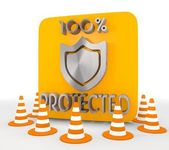 Illustration of a decorative protected icon — Stock Photo