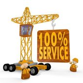 3d render of a childish service symbol with a crane — Stock Photo