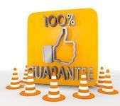 Illustration of a decorative guarantee icon — Stock Photo