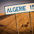 Road sign for Algeria — Stock Photo