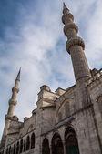 Entrée de l'escadre bleue mosquée istanbul — Photo