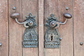 Ancient monastery door handle — Stock Photo
