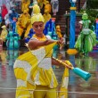 Royalty-Free Stock Photo: Yellow dressed performer in Everland show in South Korea