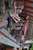 Bulguksa temple roof decoration — Stock Photo