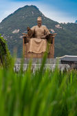 Statue of Great King Sejong from Joseon Dynasty of Korea — Stock Photo