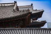 Toiture royal palais gyeongbokgung à séoul — Photo
