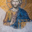 Aya Sofia - Hagia Sophia fresco of Jesus Christ in Istanbul, Turkey - Stock Photo