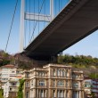 Under the Bosphorus bridge in Istanbul, Turkey - Stock Photo