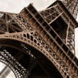 Vintage Eiffel Tower, Paris, Frnace — Stock Photo