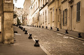 Classic street at Latin quarter in Paris, France — Stock Photo