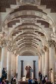 Ceiling at Louvre museum, Paris, France — Stock Photo
